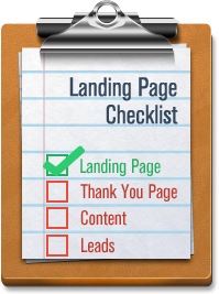 landing page checkist