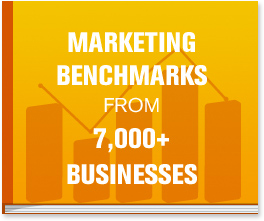 The Marketing Benchmarks from 7,000 Businesses report will dive into how you can increase both traffic and leads by improving a variety of different marketing assets.