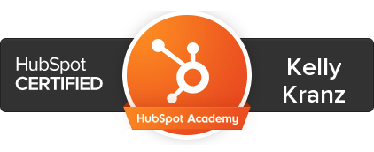 Image of Kelly's HubSpot Certification
