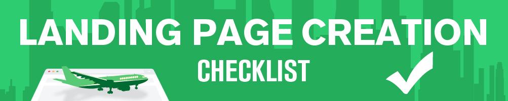 Landing Page Check List