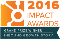 grand prize winner of hubspot 2016 impact award