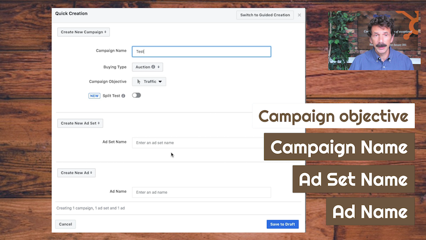 fill in with the details of the campaign