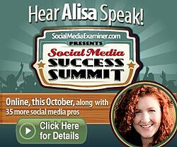 Hear Alisa speak about Pinterest Promoted Pins at Social Media Examiner's Social Media Success Summit!