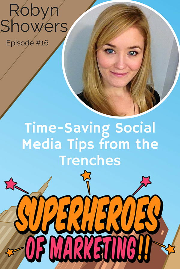 How to Manage Social Media in Fifteen Minutes a Day - HubSpot's Robyn Showers - #16 http://www.overgovideo.com/superheroes-of-marketing-podcast/manage-social-media-robyn-showers