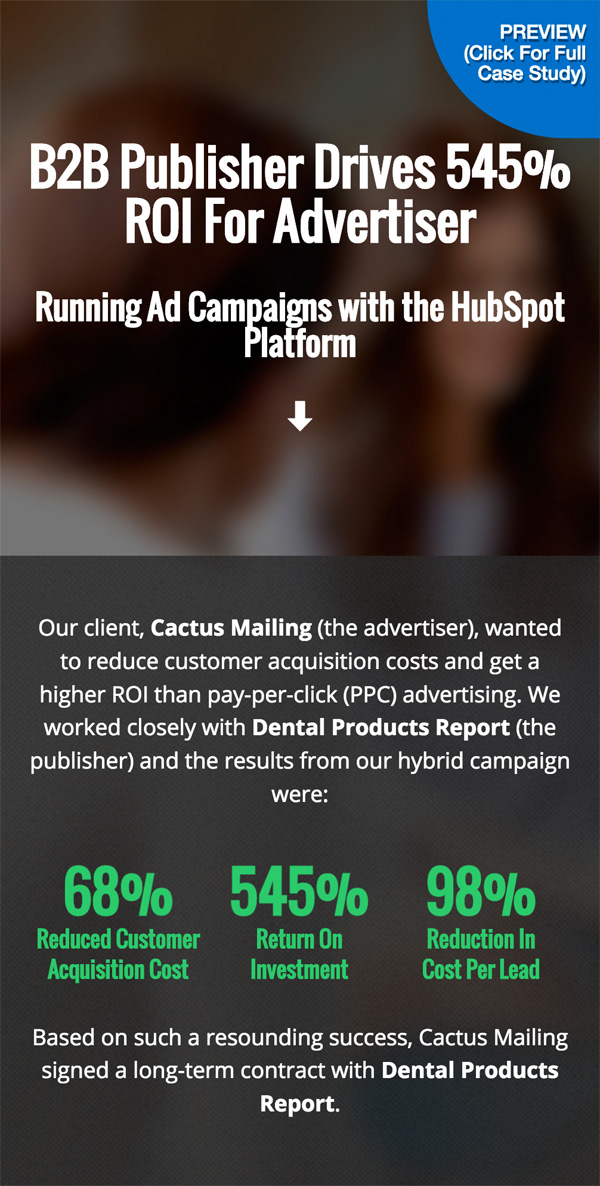 Publiser Drives ROI for Advertiser With Inbound Marketing