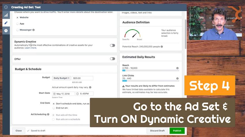 turn on dynamic creative facebook ads